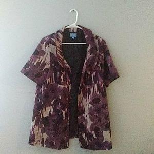 Purple Floral jacket